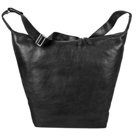 saccoo schoudertas leer zwart